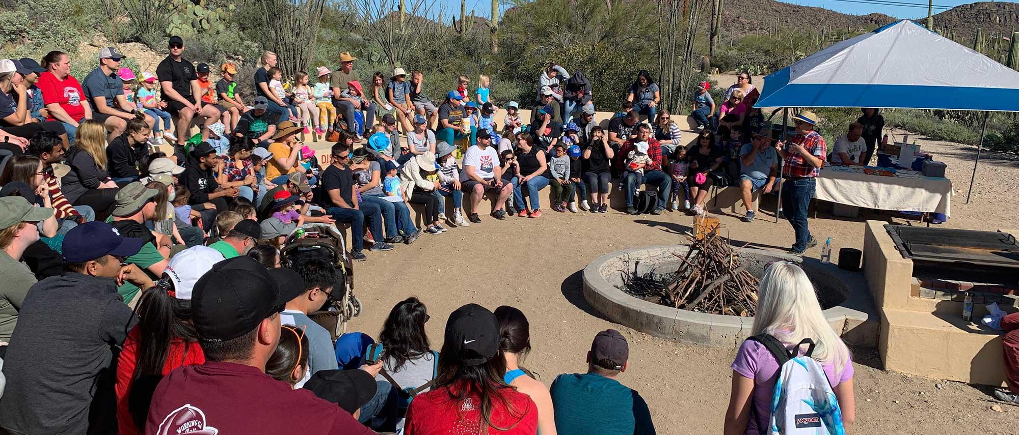 Preschool Nature Day 2020 at Camp Cooper, Tucson AZ